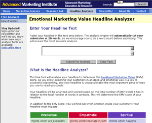 Marketing Value Headline Analyzer